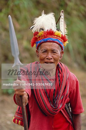 Portrait of an old man of the Ifugao tribe, Banaue, Mountain Province, North Luzon, Philippines