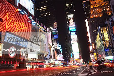 Times Square at night, Midtown, Manhattan, New York City, New York, United States of America, North America