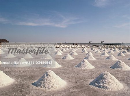 Salt flats, Thailand, Southeast Asia, Asia Stock Photo - Rights-Managed, Image code: 841-03489543