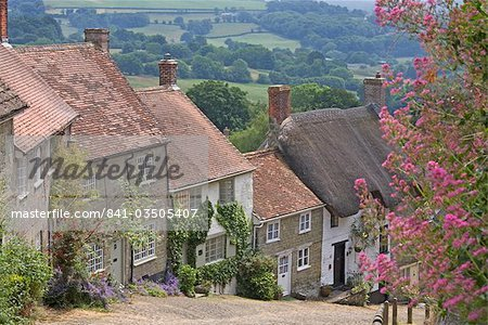Gold Hill in June, Shaftesbury, Dorset, England, United Kingdom, Europe Stock Photo - Rights-Managed, Image code: 841-03505407