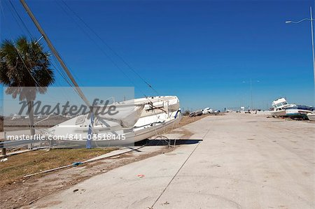 Hurricane damage, Galveston, Texas, United States of America, North America Stock Photo - Rights-Managed, Image code: 841-03518445