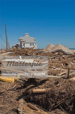 Hurricane damage, Galveston, Texas, United States of America, North America Stock Photo - Rights-Managed, Image code: 841-03518446