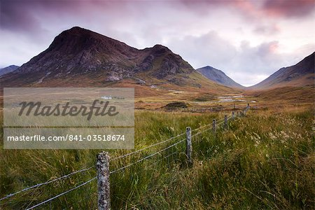 Isolated cottage on the moorland between Rannoch Moor and Glencoe, Highlands, Scotland, United Kingdom, Europe Stock Photo - Rights-Managed, Image code: 841-03518674