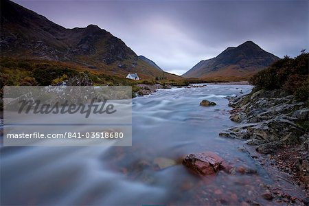 Lagangarbh cottage beside in River Coupall in Glen Coe, Highlands, Scotland, United Kingdom, Europe Stock Photo - Rights-Managed, Image code: 841-03518680