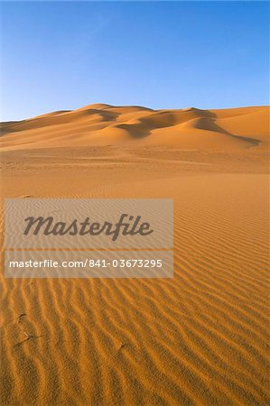 Sand dunes, Erg Murzuq, Sahara desert, Fezzan, Libya, North Africa, Africa Stock Photo - Rights-Managed, Image code: 841-03673295