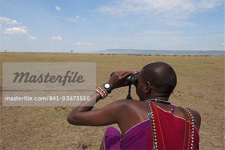 Masai guide, Masai Mara, Kenya, East Africa, Africa Stock Photo - Rights-Managed, Image code: 841-03673550