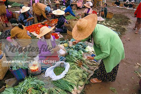 Market, Heho, Shan State, Myanmar (Burma), Asia Stock Photo - Rights-Managed, Image code: 841-03673841
