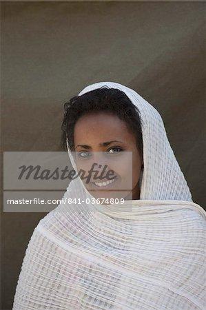 Amharic woman, Gondar, Ethiopia, Africa