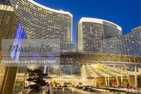 Aria Casino at CityCenter, Las Vegas, Nevada, United States of America, North America Stock Photo - Rights-Managed, Image code: 841-03674897