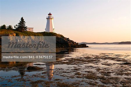 Letite Passage Lighthouse (Green's Point Lightstation), New Brunswick, Canada, North America Stock Photo - Rights-Managed, Image code: 841-03675037