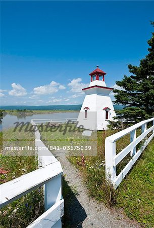 Anderson Hallow Lighthouse in Riverside-Albert, New Brunswick, Canada, North America Stock Photo - Rights-Managed, Image code: 841-03675039
