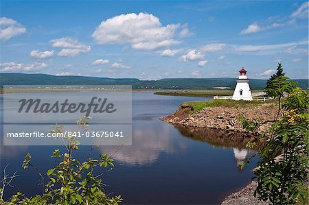 Anderson Hallow Lighthouse in Riverside-Albert, New Brunswick, Canada, North America Stock Photo - Rights-Managed, Image code: 841-03675041