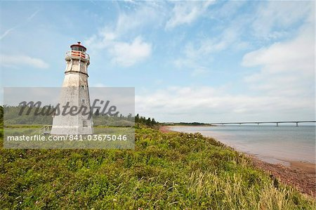 Lighthouse at Cape Jourimain National Wildlife Area, New Brunswick, Canada, North America Stock Photo - Rights-Managed, Image code: 841-03675046