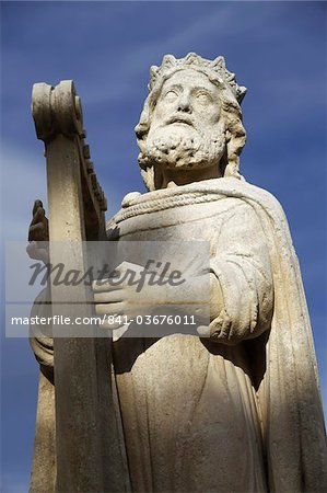 David statue in Salon de Provence, Bouches du Rhone, France, Europe Stock Photo - Rights-Managed, Image code: 841-03676011
