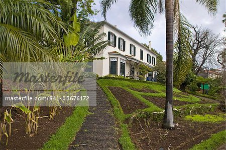 Old house in the Botanical Garden, Funchal, Madeira, Portugal, Europe Stock Photo - Rights-Managed, Image code: 841-03676172