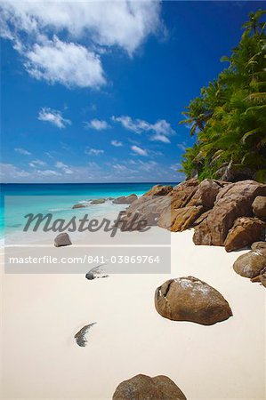 Deserted beach, La Digue, Seychelles, Indian Ocean, Africa Stock Photo - Rights-Managed, Image code: 841-03869764