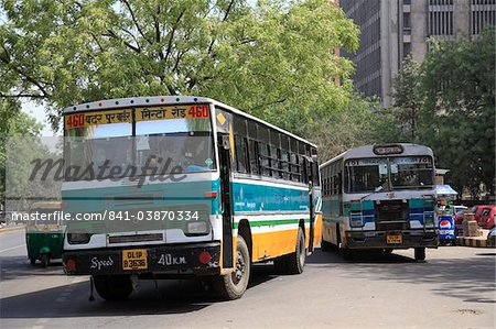 Buses, New Delhi, India, Asia Stock Photo - Rights-Managed, Image code: 841-03870334