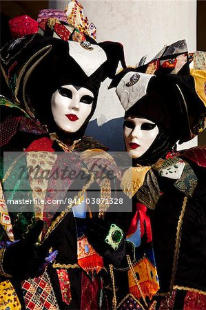 Costumes and masks during Venice Carnival, Venice, Veneto, Italy, Europe Stock Photo - Rights-Managed, Image code: 841-03871328
