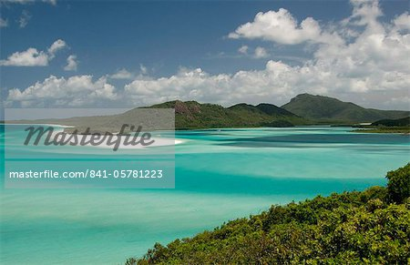 Whitehaven Beach and Hill Inlet, Whitsunday Island, Queensland, Australia, Pacific Stock Photo - Rights-Managed, Image code: 841-05781223