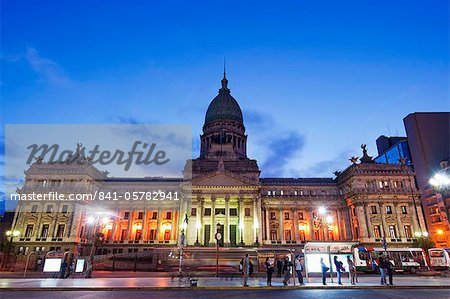 Palacio del Congreso (National Congress Building), Plaza del Congreso, Buenos Aires, Argentina, South America Stock Photo - Rights-Managed, Image code: 841-05782941