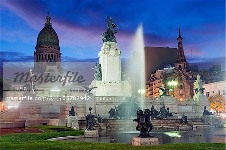 Monumento a los dos Congresos, Palacio del Congreso (National Congress Building), Plaza del Congreso, Buenos Aires, Argentina, South America Stock Photo - Rights-Managed, Image code: 841-05782942