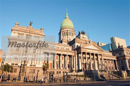 Palacio del Congreso (National Congress Building), Plaza del Congreso, Buenos Aires, Argentina, South America Stock Photo - Rights-Managed, Image code: 841-05782943