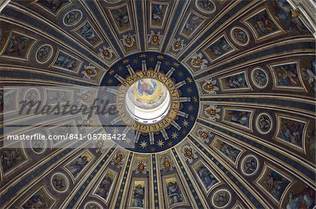 Interior of St. Peter's Basilica, Piazza San Pietro (St. Peter's Square), Vatican City, Rome, Lazio, Italy, Europe Stock Photo - Rights-Managed, Image code: 841-05783422