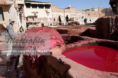 Tannery, Fez, Morocco, North Africa, Africa Stock Photo - Rights-Managed, Image code: 841-05784662