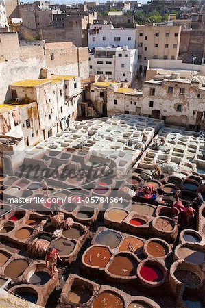 Tannery, Fez, UNESCO World Heritage Site, Morocco, North Africa, Africa Stock Photo - Rights-Managed, Image code: 841-05784664