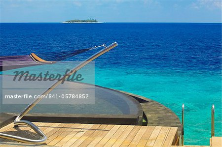 View from watervilla, Maldives, Indian Ocean, Asia Stock Photo - Rights-Managed, Image code: 841-05784852