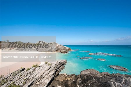 Stonehole Bay beach, Bermuda, Central America Stock Photo - Rights-Managed, Image code: 841-05784971