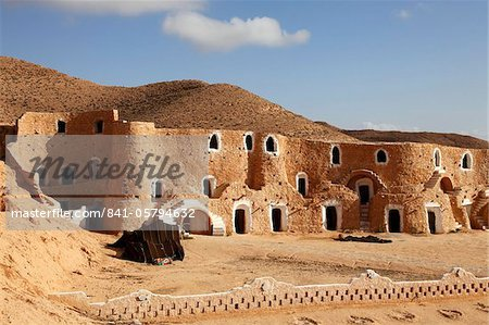 Diaramor Museum in troglodyte dwelling style building, Matmata, Tunisia, North Africa, Africa Stock Photo - Rights-Managed, Image code: 841-05794632