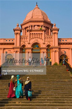 The pink coloured Ahsan Manzil palace in Dhaka, Bangladesh, Asia Stock Photo - Rights-Managed, Image code: 841-05794832
