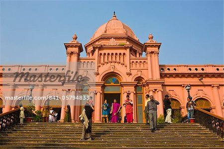 The pink coloured Ahsan Manzil palace in Dhaka, Bangladesh, Asia Stock Photo - Rights-Managed, Image code: 841-05794833