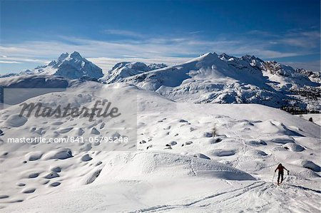 Ski mountaineering in the Dolomites, Cortina d'Ampezzo, Belluno, Italy, Europe Stock Photo - Rights-Managed, Image code: 841-05795248