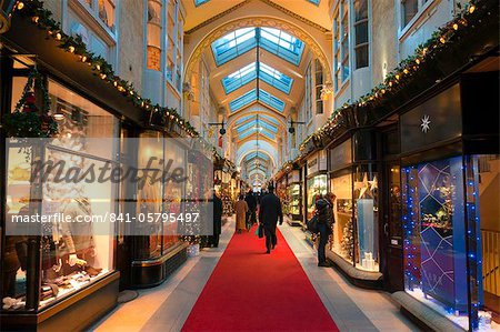 Burlington Arcade at Christmas, Piccadilly, London, England, United Kingdom, Europe Stock Photo - Rights-Managed, Image code: 841-05795497