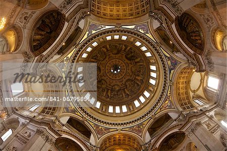 Interior of the dome of St Paul's Cathedral, London, England, UK, United Kingdom, GB, Great Britain, British Isles, Europe