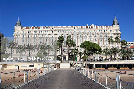 Carlton Hotel, Carlton InterContinental, La Croisette, Cannes, Provence, Cote d'Azur, French Riviera, France, Europe