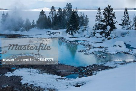 West Thumb Basin winter landscape, Yellowstone National Park, UNESCO World Heritage Site, Wyoming, United States of America, North America Stock Photo - Rights-Managed, Image code: 841-05847775