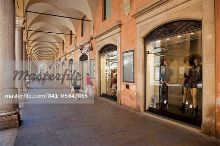 Arcade of shops, Modena, Emilia Romagna, Italy, Europe Stock Photo - Rights-Managed, Image code: 841-05847865