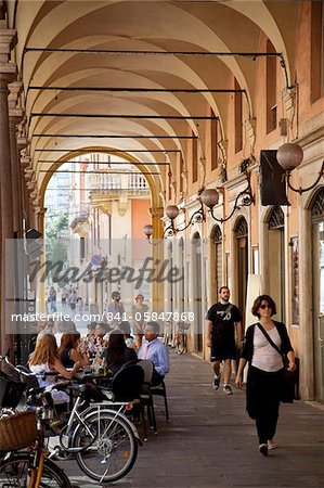 Arcade cafe, Modena, Emilia Romagna, Italy, Europe Stock Photo - Rights-Managed, Image code: 841-05847868