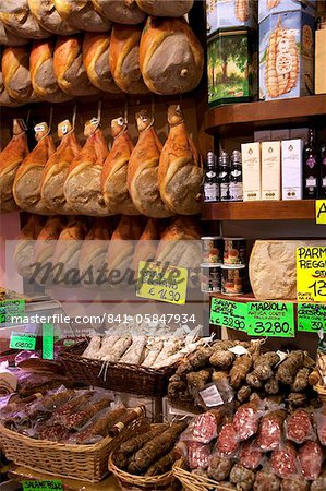 Butchers shop, Parma, Emilia-Romagna, Italy, Europe Stock Photo - Rights-Managed, Image code: 841-05847934