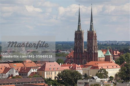 Cathedral view from Marii Magdaleny Church, Wroclaw, Silesia, Poland, Europe Stock Photo - Rights-Managed, Image code: 841-05848018