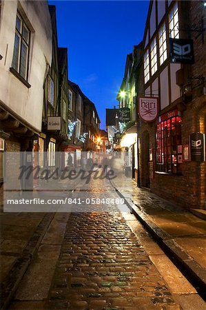 The Shambles at Christmas, York, Yorkshire, England, United Kingdom, Europe Stock Photo - Rights-Managed, Image code: 841-05848480