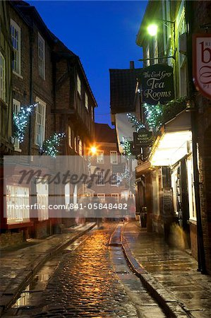 The Shambles at Christmas, York, Yorkshire, England, United Kingdom, Europe Stock Photo - Rights-Managed, Image code: 841-05848482