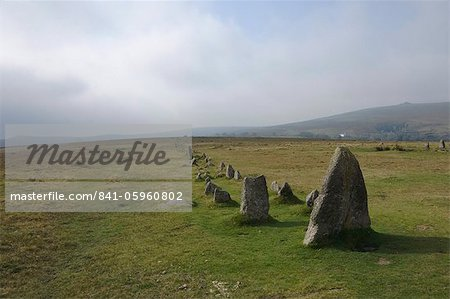 The Merrivale Stone Rows, Dartmoor National Park, Devon, England, United Kingdom, Europe Stock Photo - Rights-Managed, Image code: 841-05960802