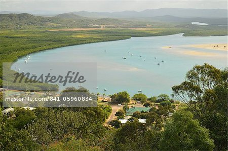View of Cooktown and Endeavour River, Queensland, Australia, Pacific Stock Photo - Rights-Managed, Image code: 841-05960834