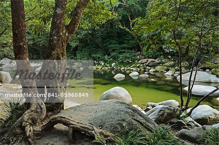 Mossman Gorge, Daintree National Park, UNESCO World Heritage Site, Queensland, Australia, Pacific Stock Photo - Rights-Managed, Image code: 841-05960849