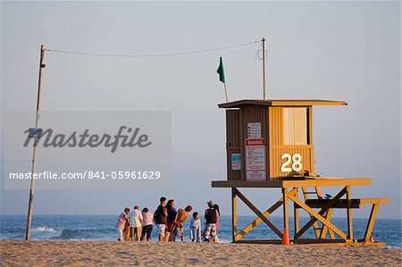 Lifeguard Tower on Newport Beach, Orange County, California, United States of America, North America Stock Photo - Rights-Managed, Image code: 841-05961629