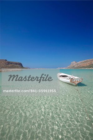 Balos Bay and Gramvousa, Chania, Crete, Greek Islands, Greece, Europe Stock Photo - Rights-Managed, Image code: 841-05961955